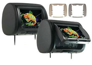 Concept-Pair-CLD-903-9-034-Headrest-Monitors-w-Built-in-DVD-HD-Input-New-CLD903-x2