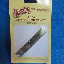 1/12 Scale Solid Brass  BRASS DOOR KICK PLATES PK2   HW1150