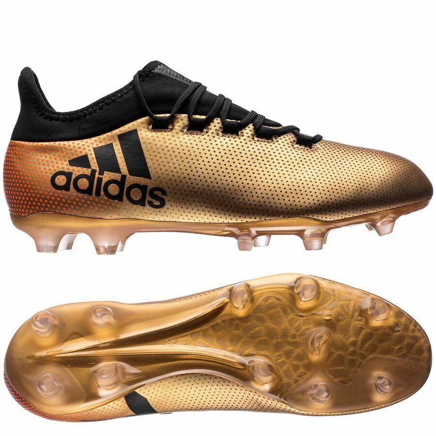 Adidas X 17.2 Fg Crampons de Football bottes Doré Métallisé noir Solaire