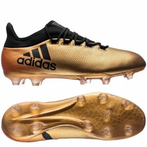 various colors fce0a 38aac Details about Adidas X 17.2 FG Soccer Cleats Boots Gold Metallic Black  Solar Men´s UK 11 EU 46