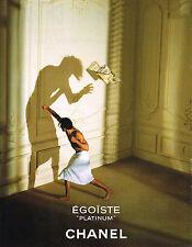 PUBLICITE ADVERTISING 045 1996 CHANEL parfum homme EGOISTE PLATINIUM      210415