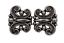 attraktive silber Schnalle Gürtel Schliesse aus Metall Tracht Dirndl 70mmx40mm