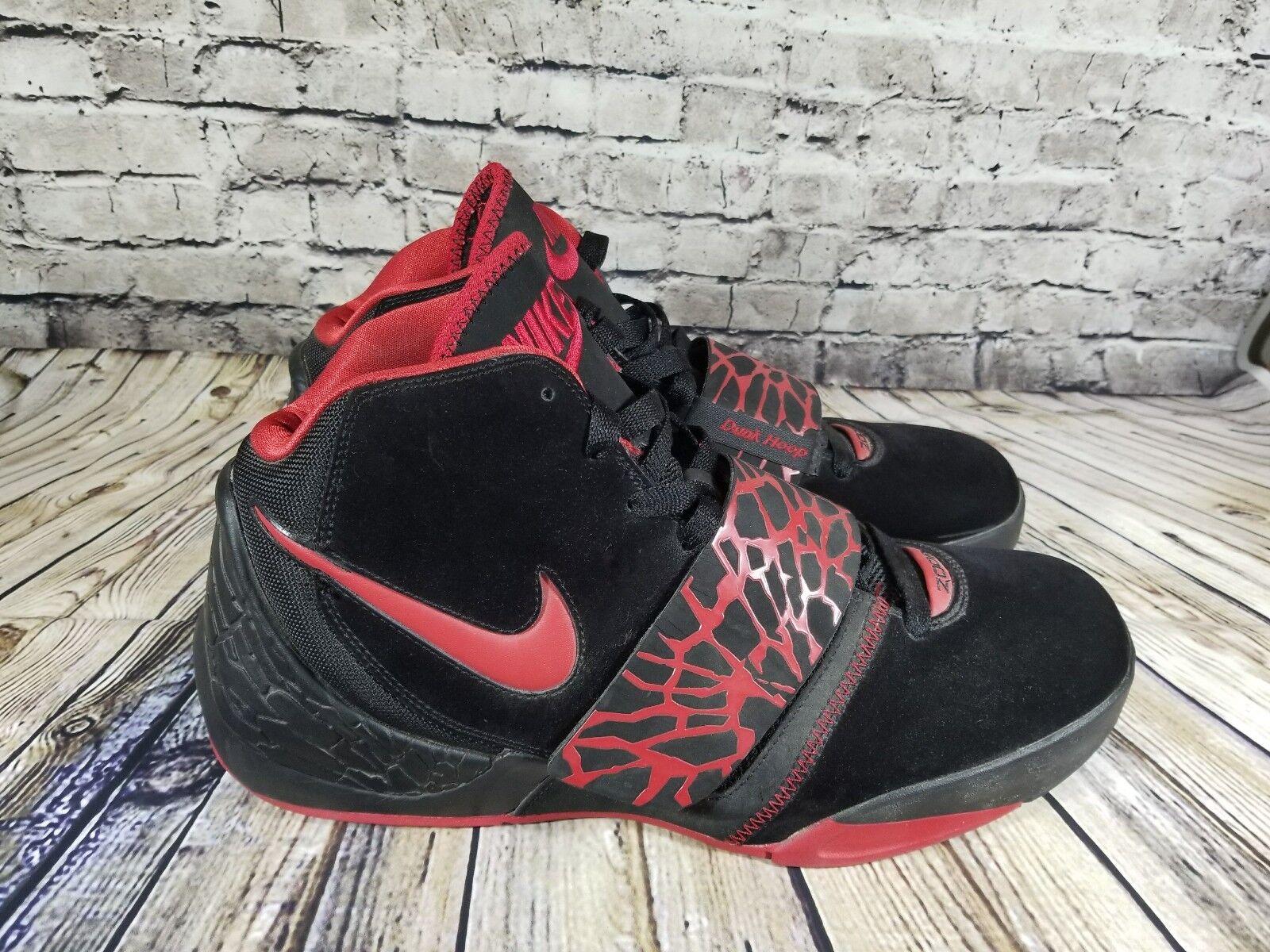 Nike Zoom Dunk Hoop Mens Size 14 Black Suede Basketball Basketball Basketball shoes Black Red 27f75a