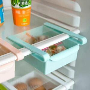 Kitchen-Slide-Fridge-Freezer-Space-Saver-Organizer-Storage-Rack-Shelf-Holder-New