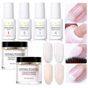 6Pcs-BORN-PRETTY-Red-Nail-Art-Dipping-System-Powder-Liquid-No-UV-Lamp-Kit