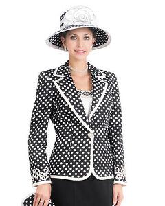 Women S 3pc Formal Dress Church Suit Skirt Jacket Set L358 Black