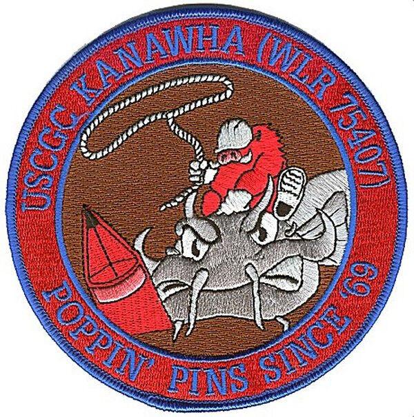 USCGC KANAWHA Pine Bluff Arkansas W4667 USCG Coast Guard patch razorback catfish