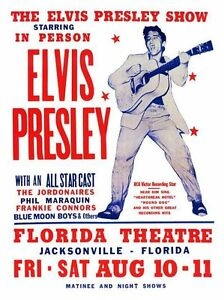 Elvis Presley Rock n Roll Concert Print Framed And Memo Board Available