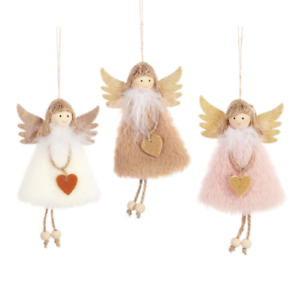 Christmas Plush Feather Angel Christmas Tree Pendants Ornaments Home Decoration