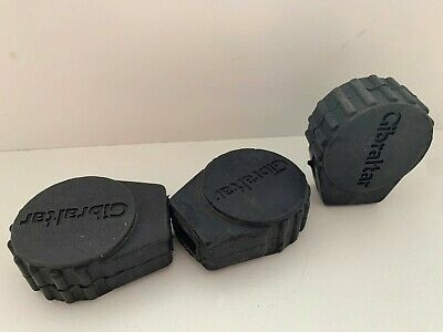 GIBRALTAR Rubber Feet Lot of 3x 90s Vtg Cymbal Snare Drum Stand Throne Tip Parts
