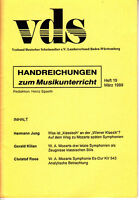 vds - Handreichungen zum Musikunterricht März 1999