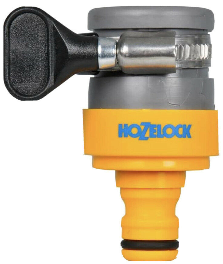 Hozelock 2176 Round Mixer Tap Connector Hose Pipe Fitt Jubilee Clip 18mm Max