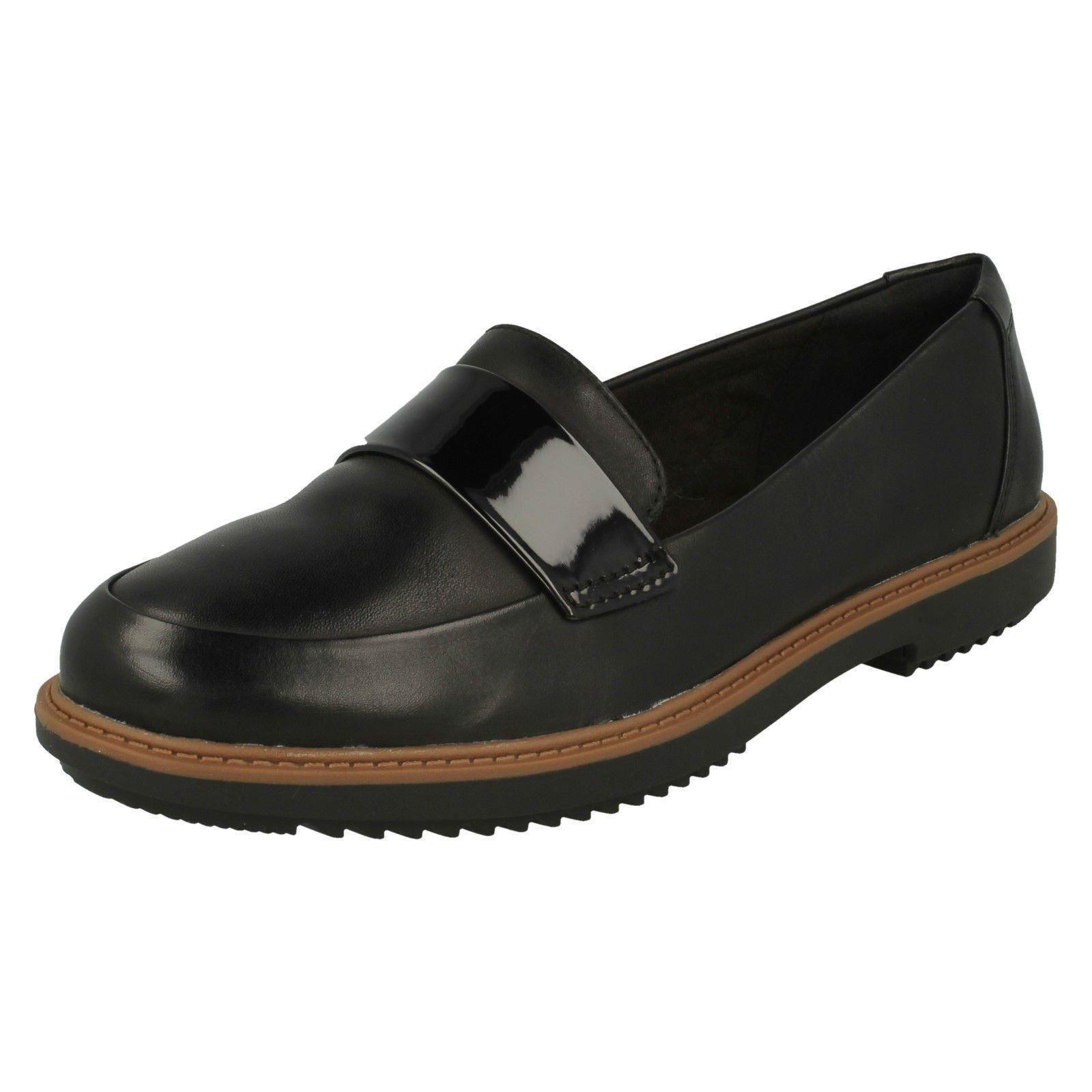 Signore  Clarks Raisie Arlie nero Leather Slip On scarpe  grande sconto