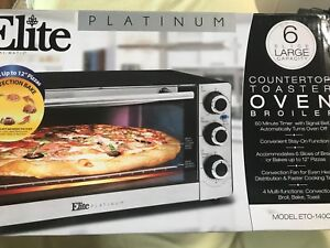 Details about Elite ETO-140C Platinum Convection 6-Slice Toaster Bake Broil  Oven by Maxi-Matic