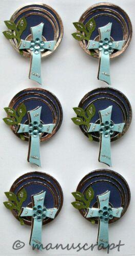 Artoz Artwork 3D-Sticker Konfirmation Kommunion Kreuz blau