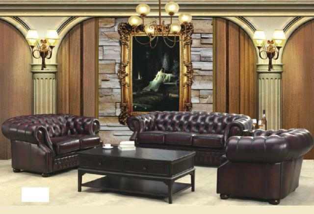 Chesterfield Couch Polst Sitz Sofa Garnitur 3 2 1 Ledersofa