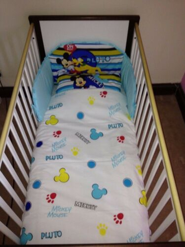 Disney Mickey /& pluto Bedding Set for Cot or Cotbed