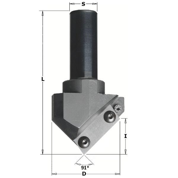 Frese CMT per scanalature a V,decorazioni e folding,per CNC Cod 663.101.11