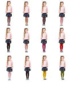 Girls-Tights-15-Denier-Lycra-Soft-Shine-Bridesmaids-12-Various-Colours-Age2-12