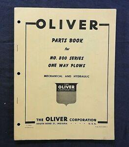 "1950's OLIVER ""No. 800 SERIES 1-way PLOW"" PARTS CATALOG MANUAL NICE"