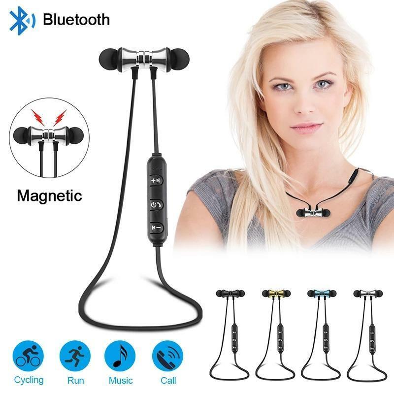 Wireless Bluetooth Headphones Sport Gym Earphones Earbuds Headset with MIC