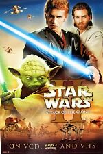 "STAR WARS II  ""ATTACK OF THE CLONES"" MOVIE DVD POSTER - Characters In Action"