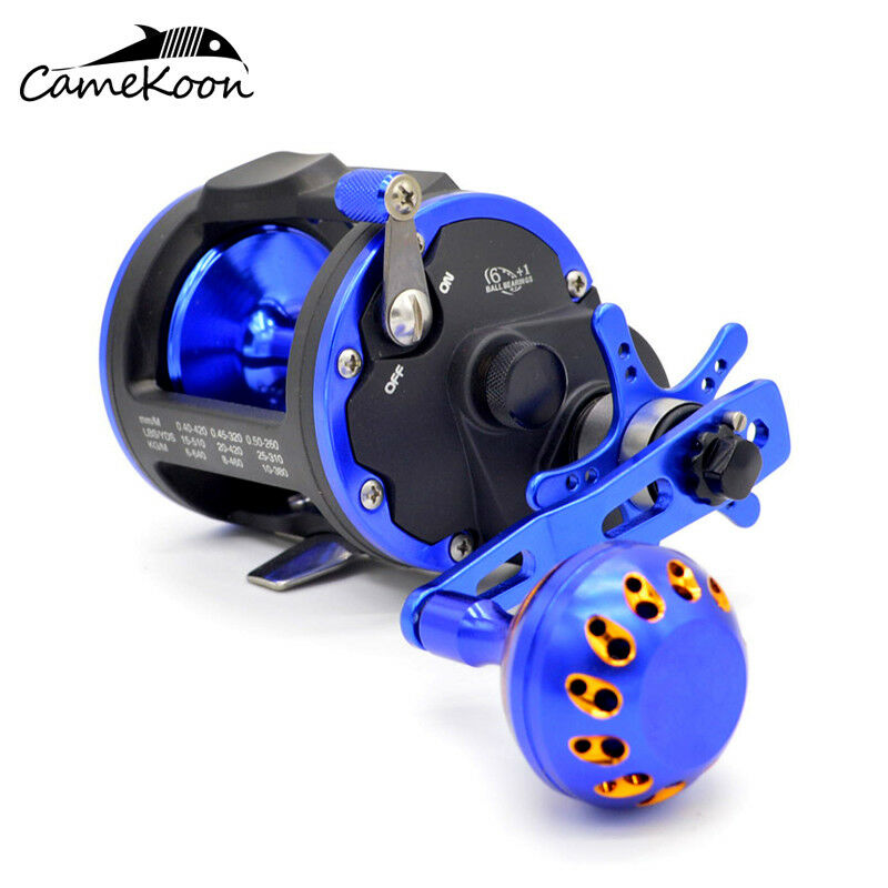CAMEKOON  Trolling Reels High Speed Gears Smoothest Drag Saltwater Fishing Reels