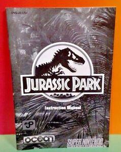 Jurassic-Park-JP-SNES-Super-Nintendo-Instruction-MANUAL-ONLY-No-Game
