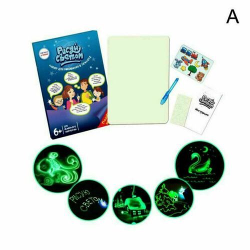 Educational Draw With Light Fun /& Developing Toy Drawing Magic Draw Board Gift