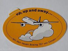 Aufkleber CONDOR Fluggesellschaft Boeing 757 Lufthansa 90er Jahre Sticker Decal