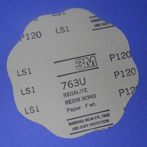 "14361 *NEW LOT OF 100* P120 GRADE SCALLOPED DISCS 763U 3M 7/"" X NH"