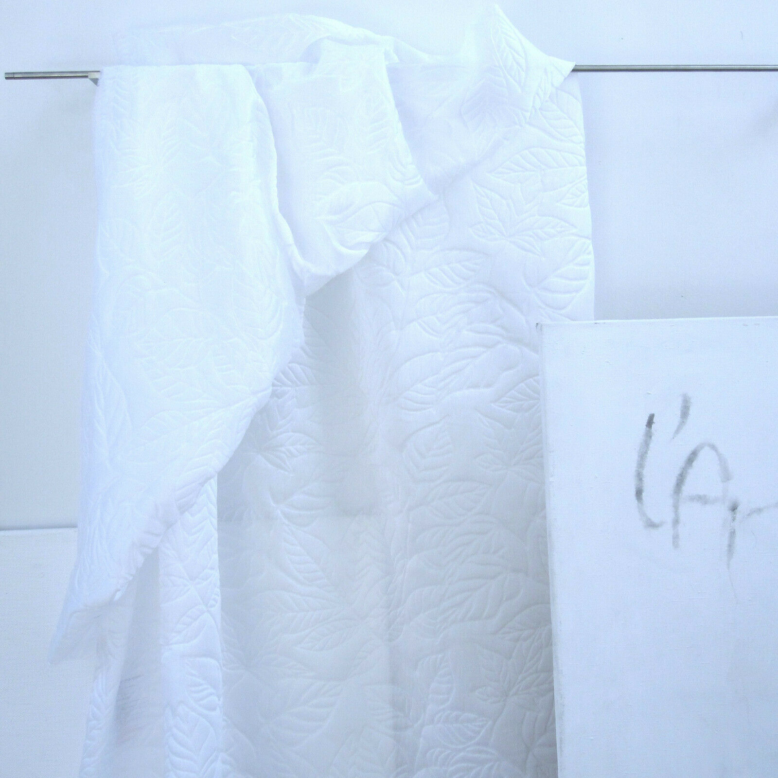stoffdesign  FOGLIA  Meterware fabric Leinen weiss 3,20 Meter hoch Nya Nordiska