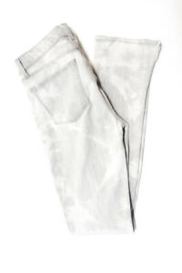 J-Brand-Womens-Distressed-Fame-Straight-Leg-Jeans-Gray-Size-25