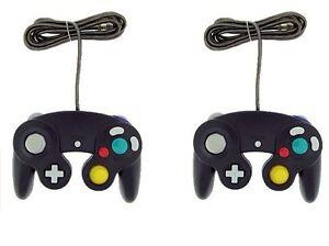 2x-Black-Controller-For-Nintendo-GameCube-GC-Wii-New-Classic-Joypad