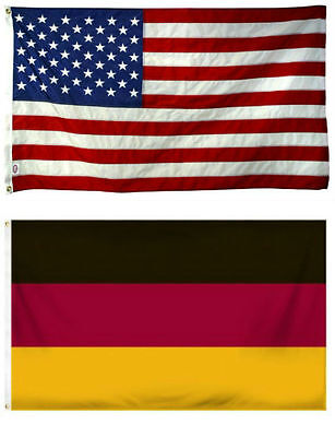 3x5 3/'x5/' Wholesale Combo USA American /& Greece Greek 2 Flags Banner Grommets