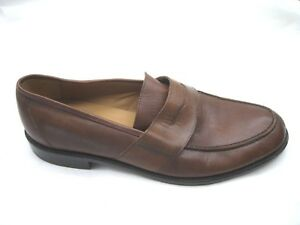 Eddie-Bauer-brown-leather-penny-loafers-Mens-casual-loafers-shoes-sz-14M-1320