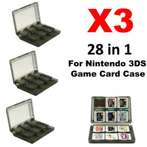 3pcs 28 In 1 Game Sd Card Case Holder Cartridge Storage Box For