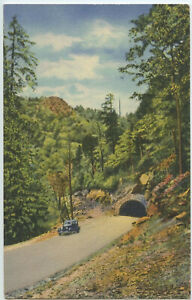 Indian-Gap-Highway-and-Tunnel-in-Great-Smoky-Mountains-Old-Car