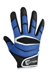 Cutters-Football-Receiver-Gloves-X40-Royal-Lot-of-17-Pairs
