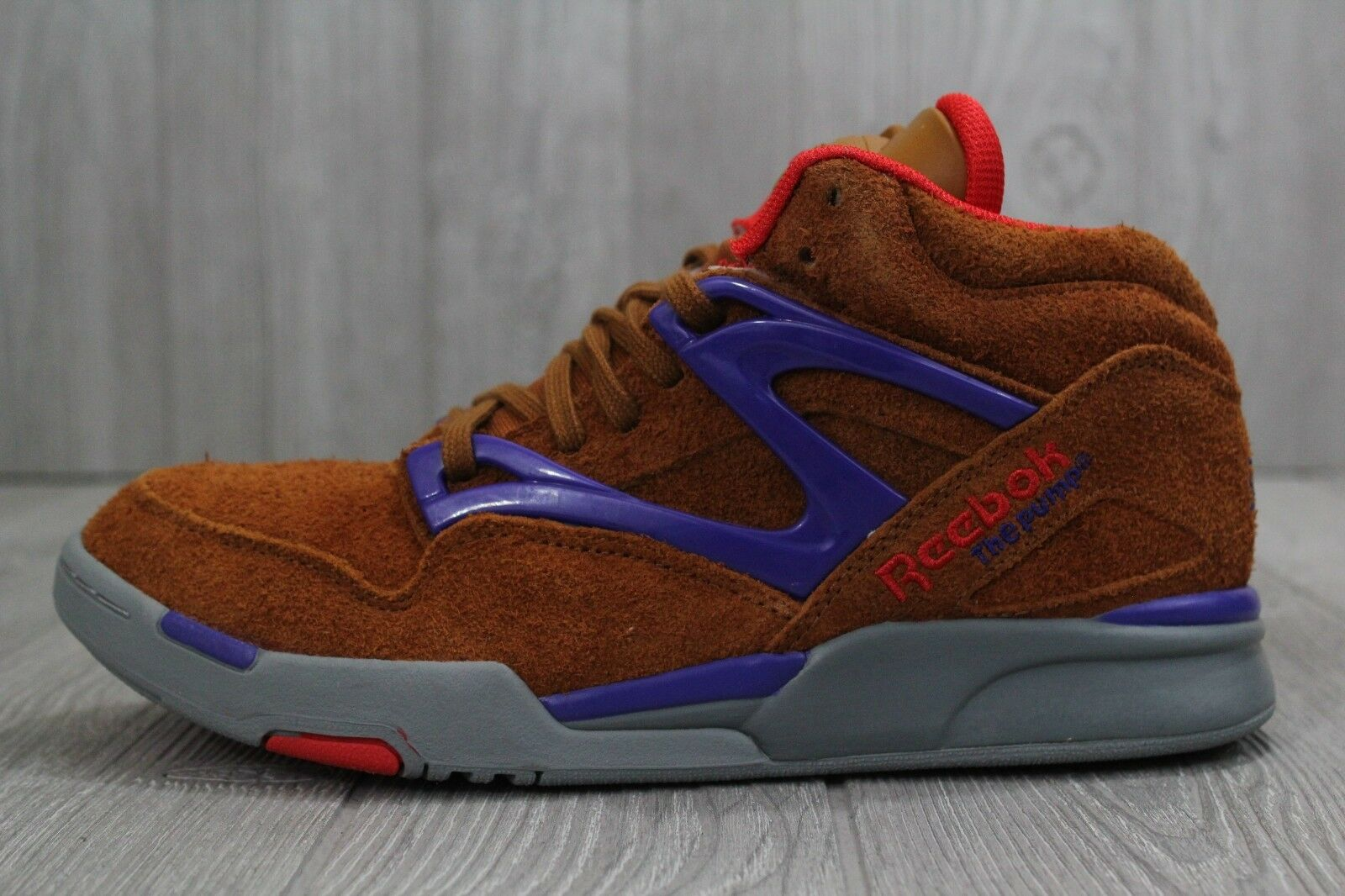 30 New Mens Reebok Hexalite The Pump Shoes Tans Suede Hi Top Size 8