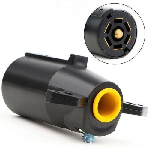 7 Way Round Trailer Plug Connector 24V Light Adapter Socket Plug Boat Car RV