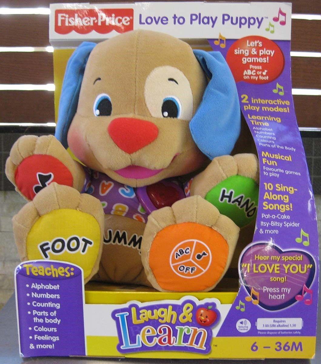 FISHER PRICE Skratta och lära kärlek att spela puppy, daterad 2008 NY