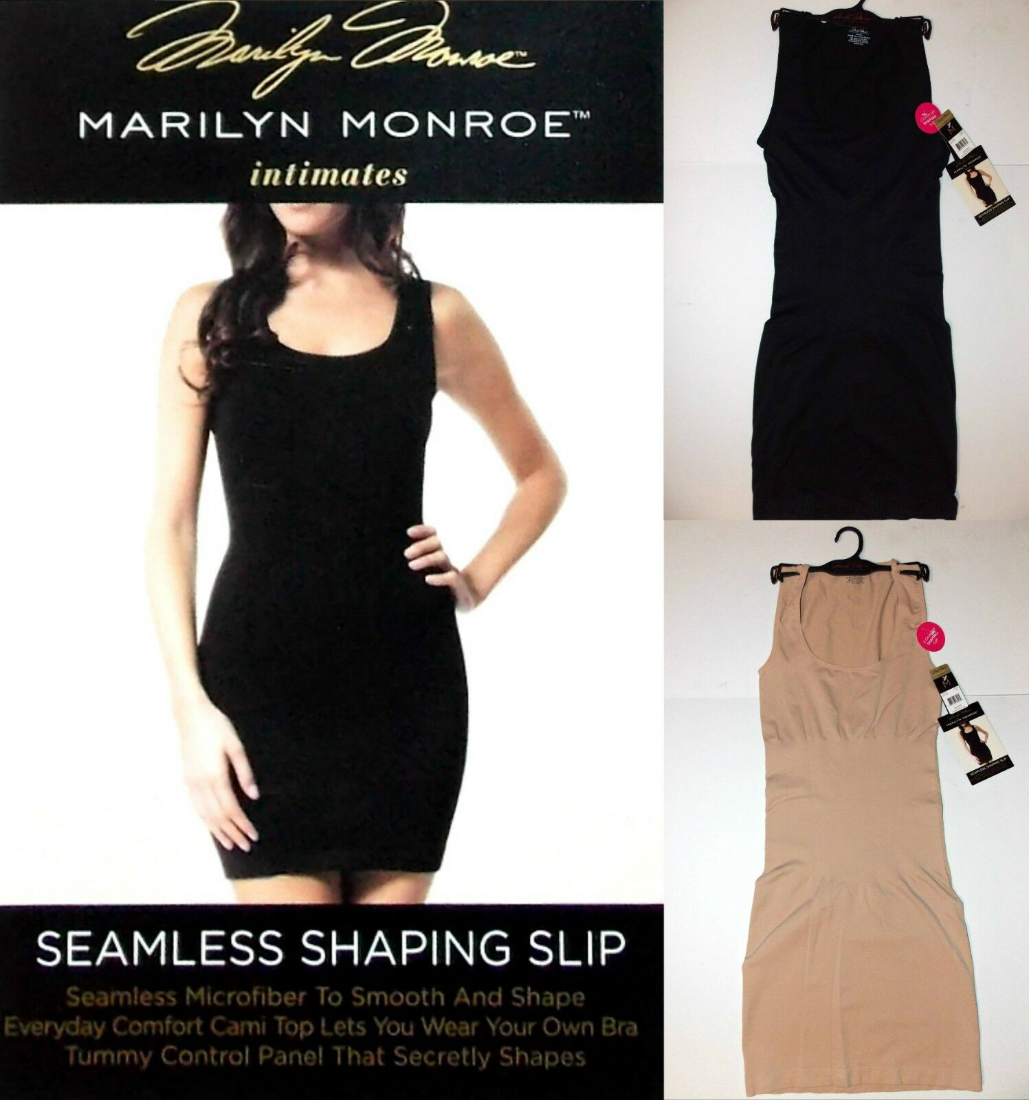 415d909c04540 NWT Marilyn Monroe Seamless Shaping Slip with tummy control panel S ...