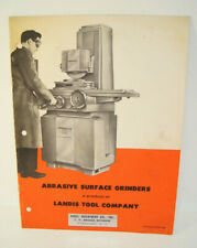 New Listingrudel Abrasive Surface Grinders Landis Tool Machine Shop Brochure Advertisement
