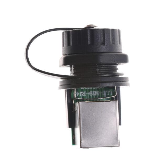 Waterproof IP68 Ethernet RJ45  LAN Network AP Plug Jack Socket Connector 8 CoreG