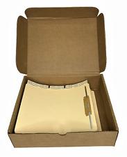 Medical Arts Press File Folder Dividers Side Flap 2 Fastener Letter 100box