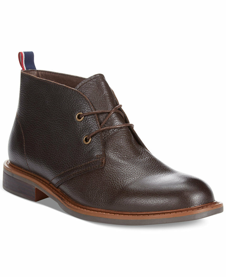 Tommy Hilfiger Men's Shoes Leather Ankle Boot Stoneham2 Chukka Brown 8.5M,10M
