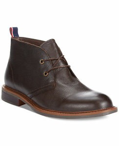 Tommy-Hilfiger-Men-039-s-Shoes-Leather-Ankle-Boot-Stoneham2-Chukka-Brown-8-5M-10M