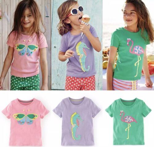 Mini Boden Applique Short Sleeve Pretty T Shirt 1 2 3 4 5 6 7 8 9 10 11 12 13Yrs