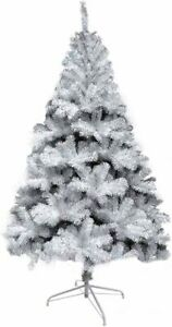 LOKIPA 6ft White Christmas Tree Artificial Xmas Tree Branches with Metal Stand